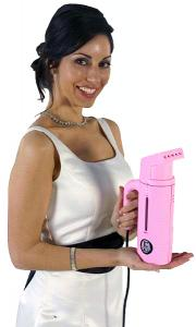 Jiffy, 1901, Pink, Esteam, Personal, Handheld, Garment, Fabric, Steamer, Travel, Embroidery, USA Made, 600 Watts, Helps Clean, Freshen, Remove Odors, Wrinkles