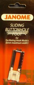 Janome 2- 200123006 4 Step Sliding Buttonhole Maker Pressser Foot for 5mm ZigZag Oscilating Hook Sewing Machines