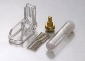 Janome 78- 725822004 Clear Foot, 10 Barbed Felting Needles, and Holder