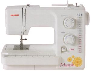 Janome 7318 18-Stitch Magnolia Mechanical Freearm Sewing Machine, Built-in Buttonhole, Top Drop-In, No-jam Bobbin, 20/3 Year Extended Warranty/Replace