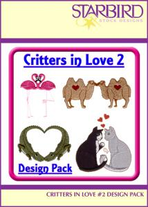 Starbird Embroidery Designs Critters in Love #2 Design Pack