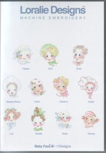 Loralie Embroidery Designs Baby Face III - Multi-Formatted CD