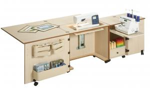 Sylvia 1050q 810q 500 Dual Sewing Machine And Serger Cabinet 80x20
