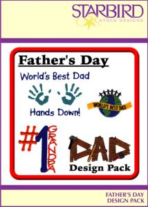 Starbird Embroidery Designs Father's Day Design Pack