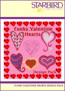 Starbird Embroidery Designs Funky Valentine Hearts Design Pack