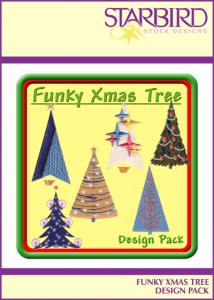 Starbird Embroidery Designs Funky Xmas Tree Design Pack