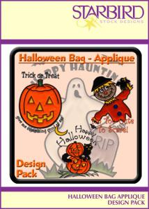 Starbird Embroidery Designs Halloween Bag Appliqué Design Pack