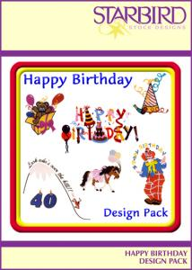 Starbird Embroidery Designs Happy Birthday Design Pack