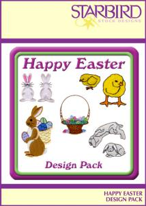 Starbird Embroidery Designs Happy Easter Design Packnohtin