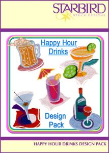 Starbird Embroidery Designs Happy Hour Drinks Design Pack