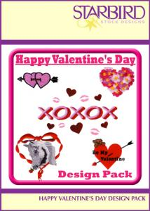 Starbird Embroidery Designs Happy Valentine's Day Design Pack