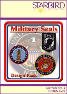 Starbird Embroidery Designs Military Full Front Design Pack