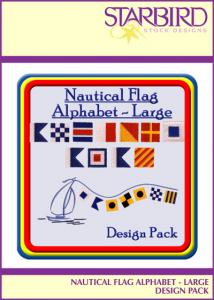 Starbird Embroidery Designs Nautical Flag Alphabet Large Design Pack