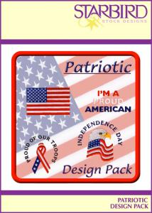 Starbird Embroidery Designs Patriotic Design Pack
