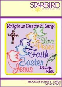 Starbird Embroidery Designs Religious Easter #2 - Large Design Pack