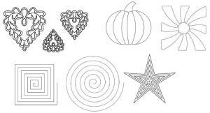 "Quilt, EZ, Block, Quilting, Design, Templates, Choose, Various, Styles, 13"", 12"""