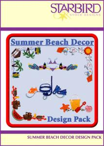 Starbird CD062906AA Embroidery Designs Summer Beach Décor Design Pack CD