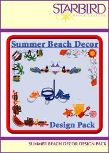 Starbird CD062906AA Embroidery Designs Summer Beach Décor Design Pack CD