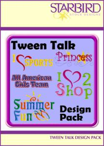 Starbird Embroidery Designs Tween Talk Design Pack