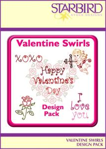 Starbird Embroidery Designs Valentine Swirls Design Pack