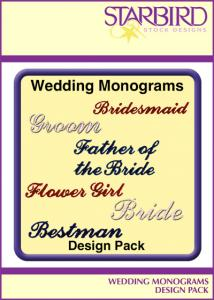Starbird Embroidery Designs Wedding Monograms Design Pack