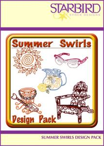 Starbird Embroidery Designs Summer Swirls Design Pack