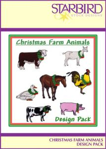 Starbird Embroidery Designs Christmas Farm Animals Design Pack