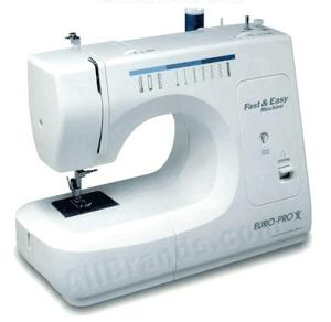 Euro Pro 425 18-Stitch Function Fast & Easy Sewing Machine with Buttonhole