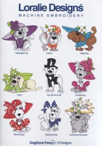 Loralie Embroidery Designs Doggone Fancy I - Multi-Formatted CD