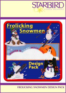 Starbird Embroidery Designs Frolicking Snowmen Design Pack