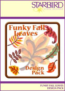 Starbird Embroidery Designs Funky Fall Leaves Design Pack