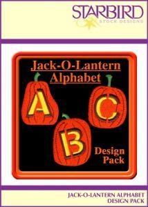 Starbird Embroidery Designs Jack-O-Lantern Alphabet Design Pack