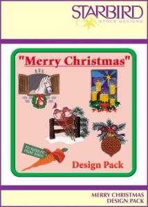 Starbird Embroidery Designs Merry Christmas Design Pack