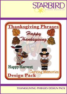 Starbird Embroidery Designs Thanksgiving Phrases Design Pack