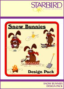 Starbird Embroidery Designs Snow Bunnies Design Pack