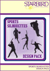 Starbird Embroidery Designs Sports Silhouettes Design Pack
