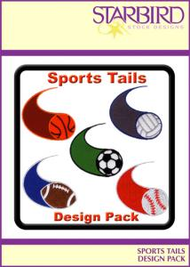 Starbird Embroidery Designs Sports Tails Design Pack