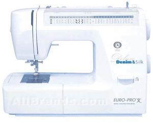 Euro Pro 6130 Best Buy 48-Stitch Function Deluxe Denim & Silk Sewing Machine, 1-Step Buttonhole, Drop-in Bobbin, Hard Case & 10 Feet Factory Serviced