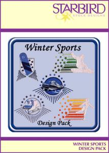 Winter Jackets - Starbird Embroidery Designs Winter Sports Design Pack