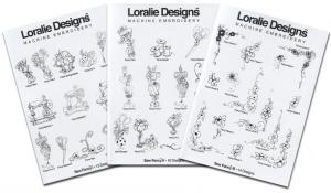 Loralie Embroidery Designs Sew Fancy I, II & III Multi-Formatted CD's (3 Volume Set) - 37 Designs