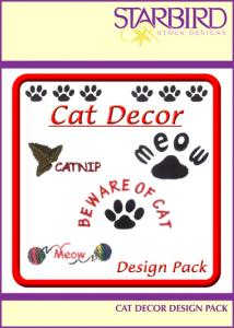 Starbird Embroidery Designs Cat Décor Design Pack