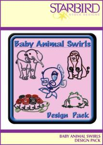 Starbird Embroidery Designs Baby Animal Swirls Design Pack