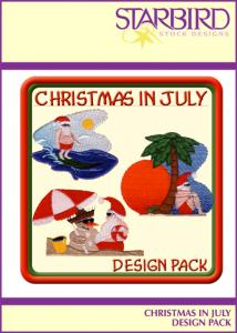 Starbird Embroidery Designs Christmas in July Design Pack
