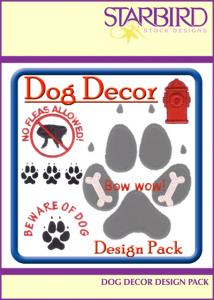 Starbird Embroidery Designs Dog Décor Design Pack
