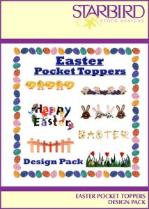 Starbird Embroidery Designs Easter Pocket Toppers Design Pack