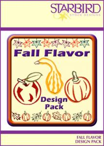 Shirt Embroidery - Starbird Embroidery Designs Fall Flavor Design Pack