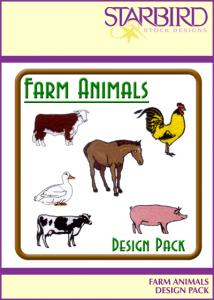 Starbird Embroidery Designs Farm Animals Design Pack
