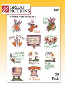 Great Notions 1566GNP Amazing Designs/Great Notions Primitive Praise Collection I Design Pack CD De'cor Multi-Formatted CD