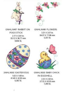 Great Notions 1567 Easter Embroidery Designs Multi-Formatted CD