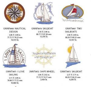 Great Notions 1577 Nautical Embroidery 20 Designs on Multi-Format CD